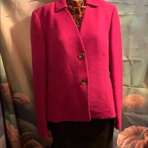 Emanuel Picone Fushia Jacket size 16 cotton rayon